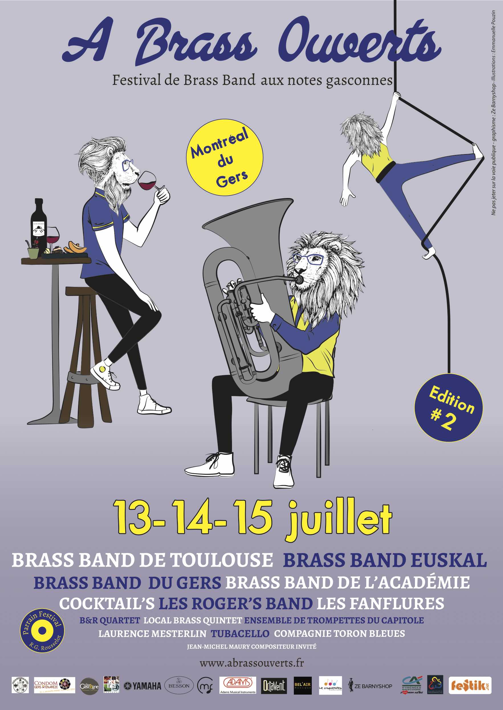 Affiche Festival A Brass Ouverts